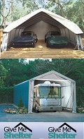 Portable garages canada by give me shelter in toronto l9p 1r2 for Rv shelter canada